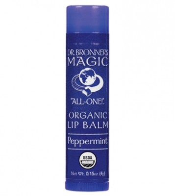 Dr. Bronner's Organic Peppermint Lip Balsem